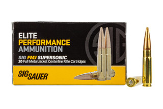 SIG ammo 300 BLK ammunition features a 125 grain full metal jacket bullet