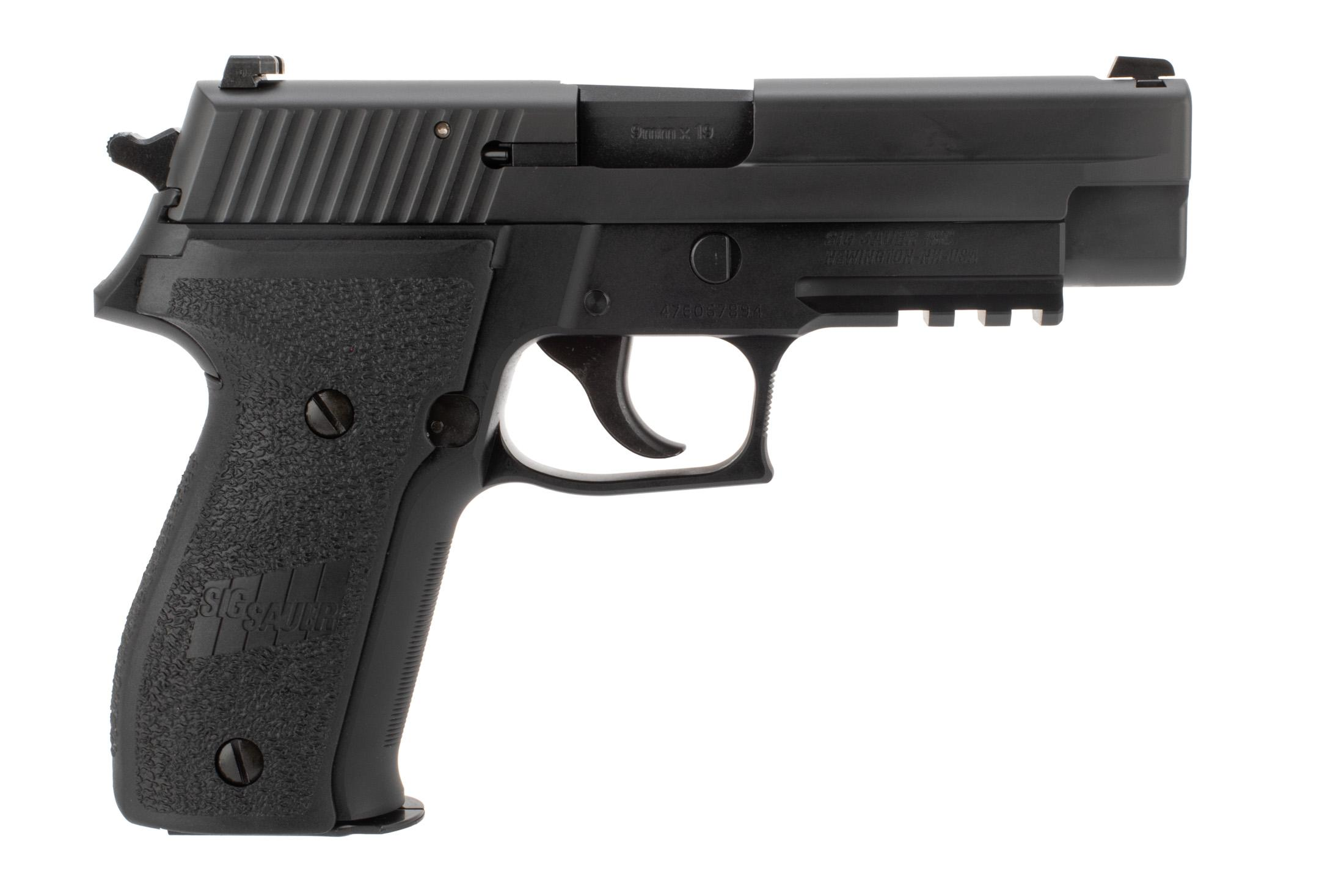 SIG Sauer P226 MK25 9mm Full Size 15rnd Handgun with Night Sights, 4.4 Barrel and is a double action hammer fired design