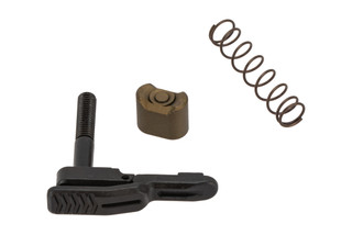 strike industries ambidextrous AR-15 magazine release with flat dark earth mag release button.