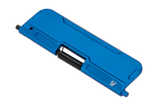 Strike Industries billet ultimate AR-15 dust cover is aluminum with blue anodized finish.