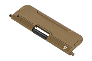 Strike Industries billet ultimate AR-15 dust cover is aluminum with FDE anodized finish.