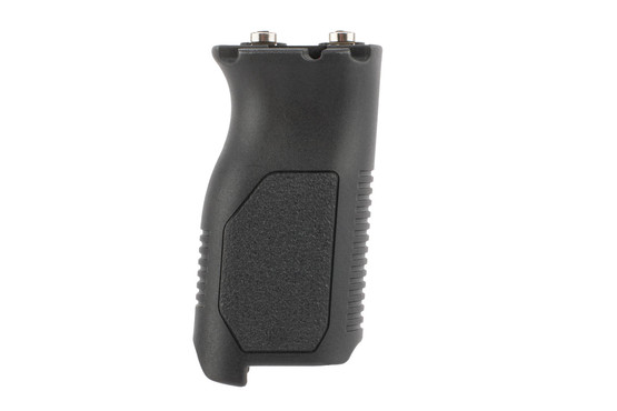 Strike Industries Angled Vertical Foregrip long model features an L-shaped hook for extra stability on barricades