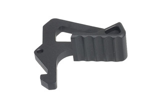 The Strike Industries Extended AR-15 charging handle latch features an ergonomic and textured design