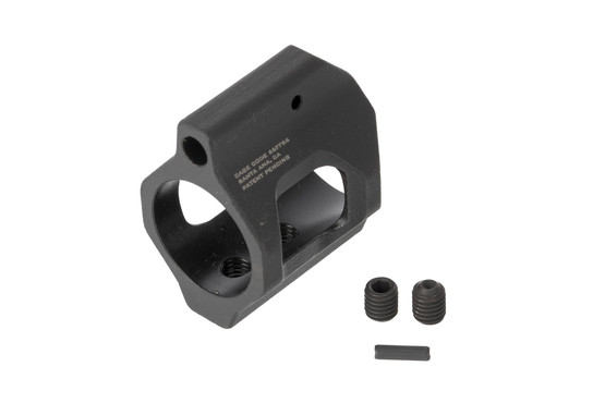Strike Industries Enhanced nitrided steel .750 gas block includes set screws and a gas tube roll pin