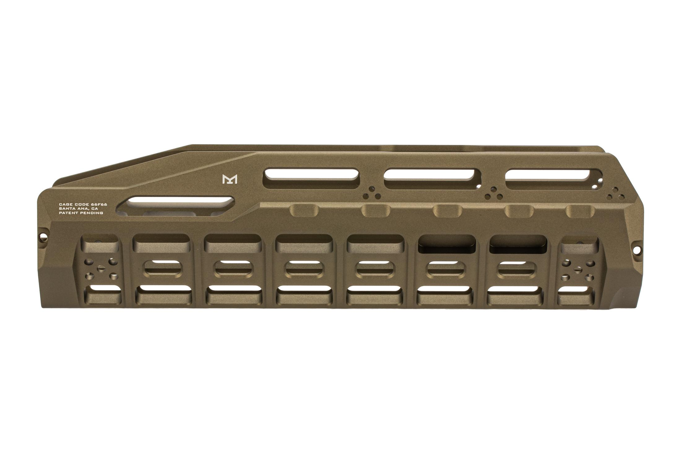 The Strike Industries HAYL Rail Benelli M4 Handguard flat dark earth features a drop in design