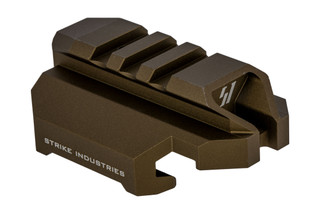 SI Scorpion Stock Adapter flat dark earth anodized features a picatinny rail for stocks and braces
