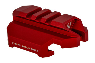 Strike Industries Scorpion Evo picatinny stock adapter features a red anodized finish
