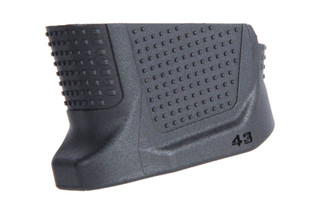 The Strike Industries EMP Glock 43 enhanced magazine plate adds 2 rounds of 9mm to your handgun