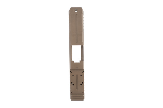 Strike Industries Glock Lite Slide FDE is milled for a variety of red dot sights