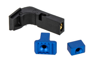 Strike Industries Modular Magazine Release for Gen1-3 Glock Handguns with blue anodized finish.