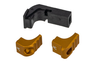 Strike Industries Glock Gen4 Modular Magazine Release features a gold anodized finish