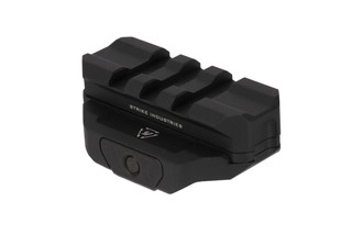 Strike Industries modular R.EX riser with spacer for cowitness with fixed iron sights with durable black anodized finish
