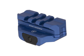 Strike Industries modular R.EX riser with spacer for cowitness with fixed iron sights with durable blue anodized finish