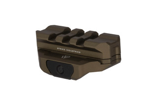 Strike Industries modular R.EX riser with spacer for cowitness with fixed iron sights with durable FDE anodized finish