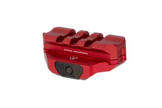 Strike Industries modular R.EX riser with spacer for cowitness with fixed iron sights with durable red anodized finish