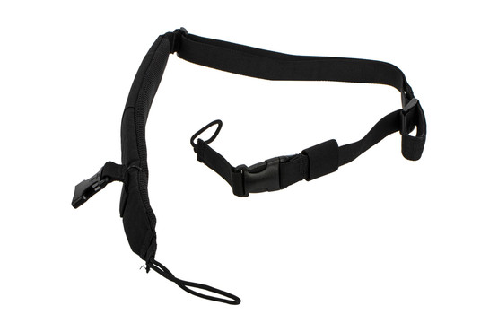 The Strike Industries S3 Pro Padded Rifle Sling is made from black Nylon