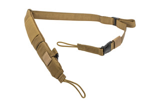 The Strike Industries S3 Pro Padded Rifle Sling is made from flat dark earth Nylon