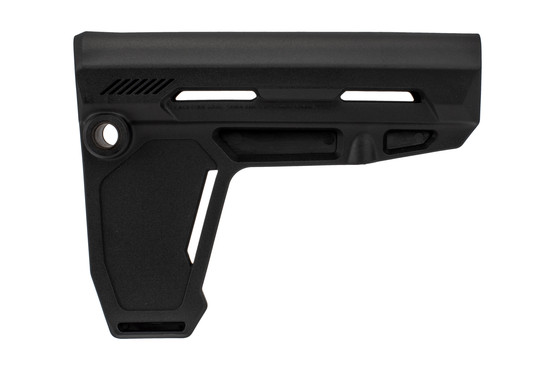 The Strike Industries AR Pistol Stabilizer Brace is made from fiberglass reinforced polymer