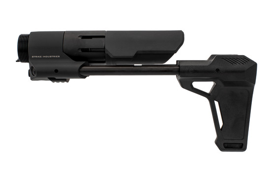 The Strike Industries PDW Pistol Brace is made from 6061 aluminum and reinforced polymer