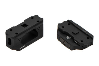 The Strike Industries T1 Riser red dot mount black anodized comes with a spacer to adjust height