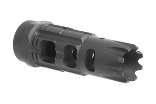 The Strike Industries Triple Crown Compensator is threaded 1/2x28 for 5.56 AR-15 rifles