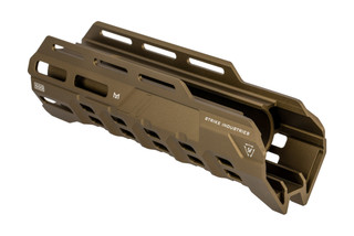 Strike Industries Valor of Action Mossberg 500 Handguard features an FDE anodized finish