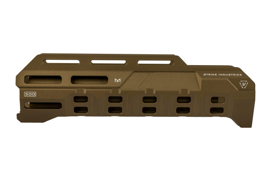 Strike Industries Valor of Action Mossberg 590 handguard features M-LOK slots