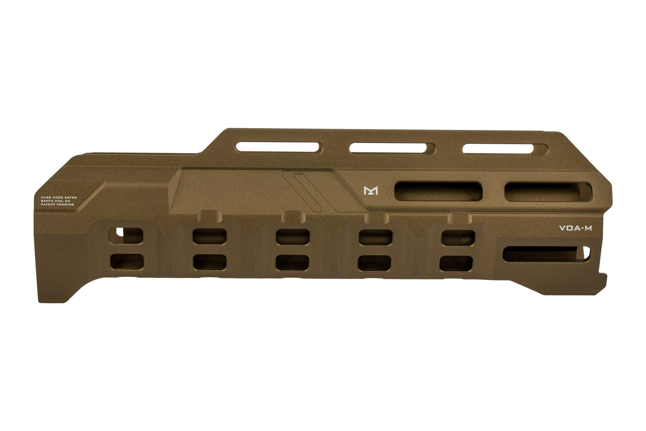 Strike Industries VOA Mossberg 500 M-LOK handguard is machined from aluminum