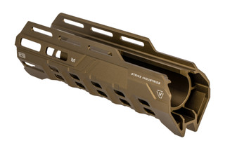 Strike Industries Valor of Action Remington 870 handguard features an FDE finish