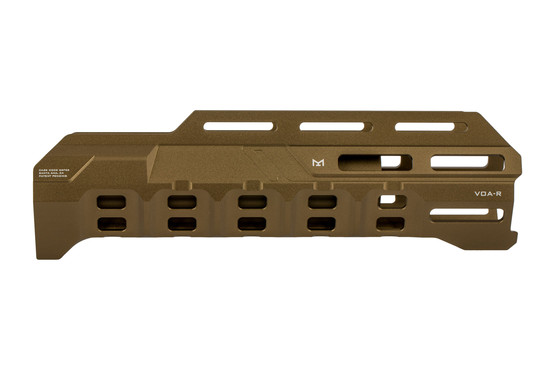 Strike Industries Remington 870 handguard fde is machined from aluminum