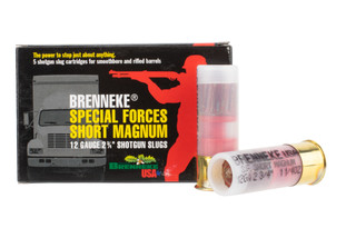 Brenneke Special Forces 12 Gauge slug comes in a box of 5 shells