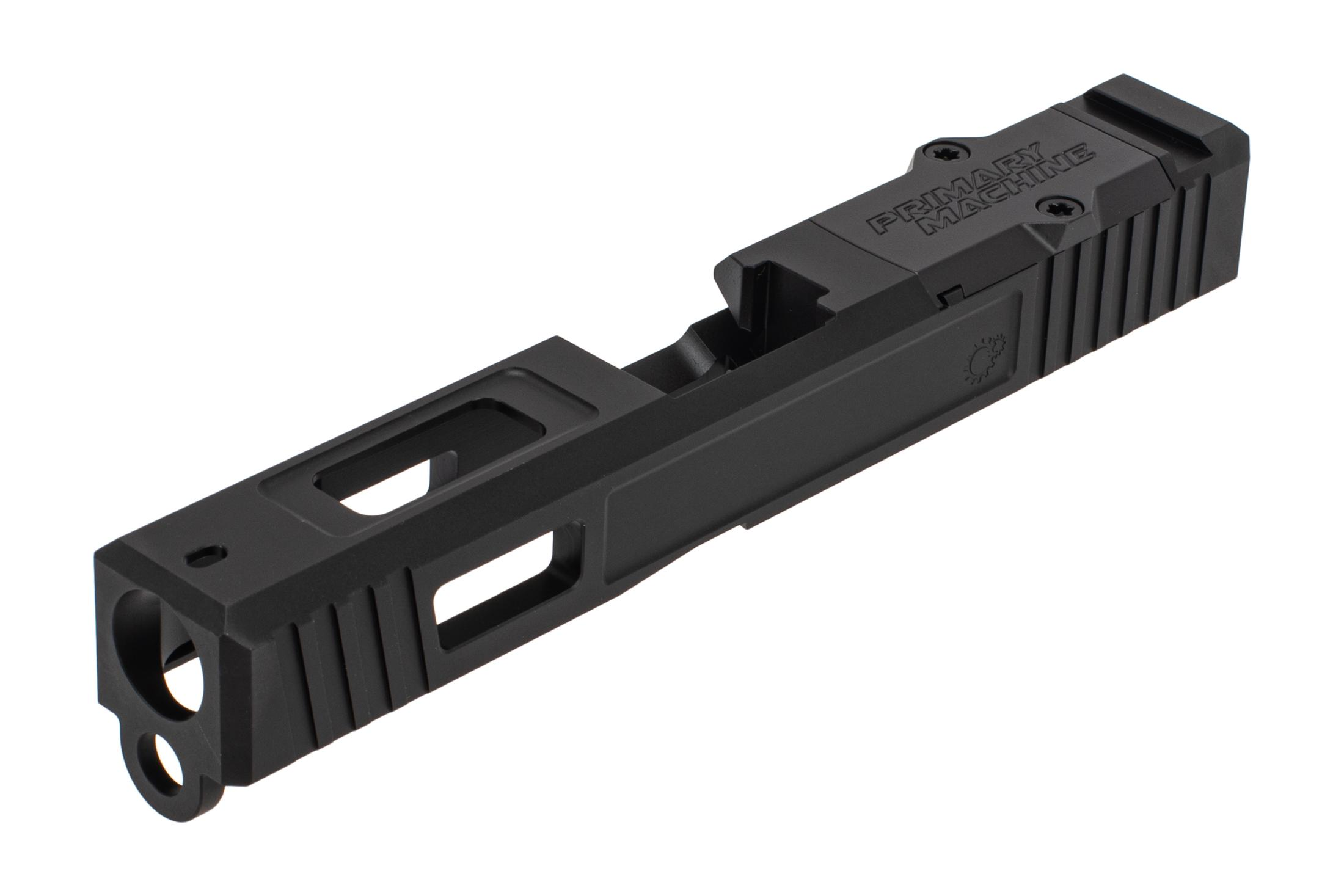 The Primary Machine G19 Slide Gen 3 features a black Nitride finish