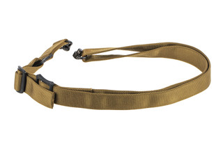 "Griffin Armament Switch Hitter Convertible rifle sling with coyote 1.5"" nylon webbing"