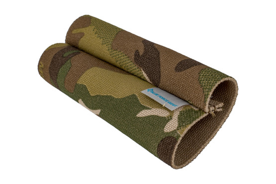 Blue Force Gear Sling Storage Sleeve in multicam is a 5in elastic band designed to retain slings during storage.