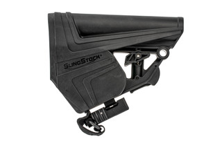 The WMD Guns SlingStock Elite AR15 stock is made from durable polymer