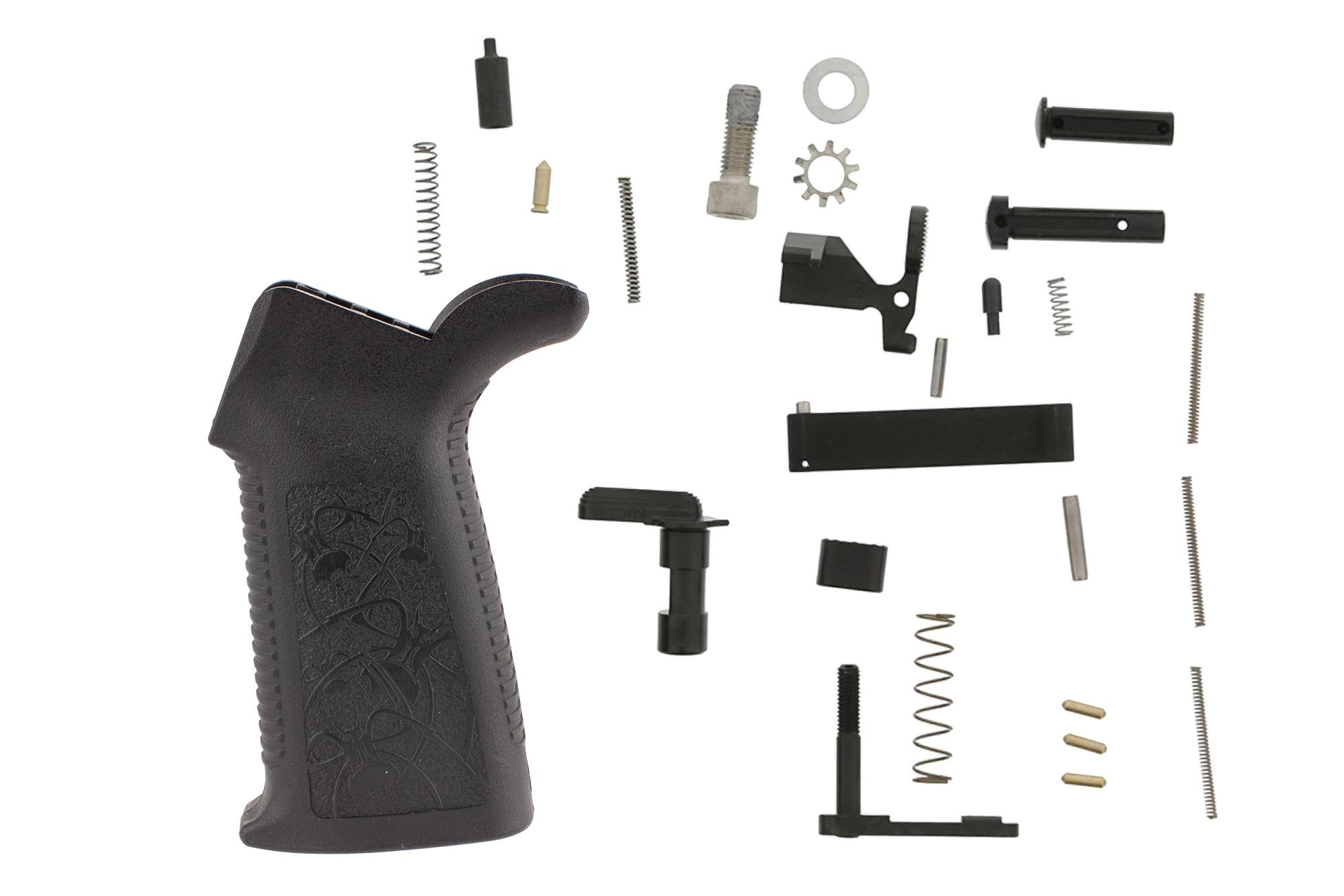 The Spikes Tactical Lower Parts Kit no trigger is an affordable way to finish your AR15 lower receiver