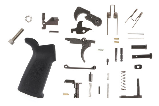 The Spikes Tactical lower parts kit for AR15 comes with a Mil-Spec single stage trigger