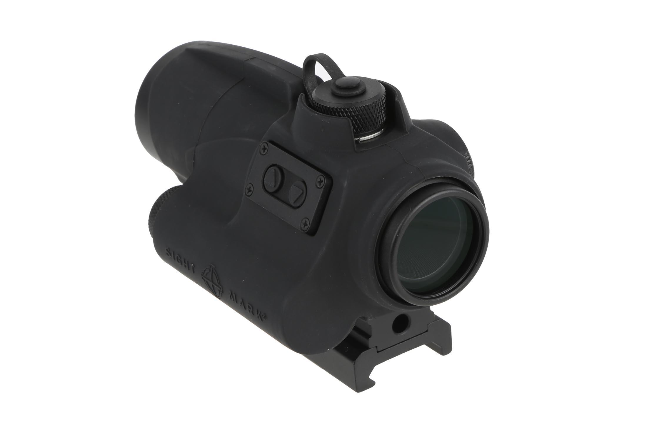 This AR red dot scope by Sightmark is designed for use on AR-15 rifles