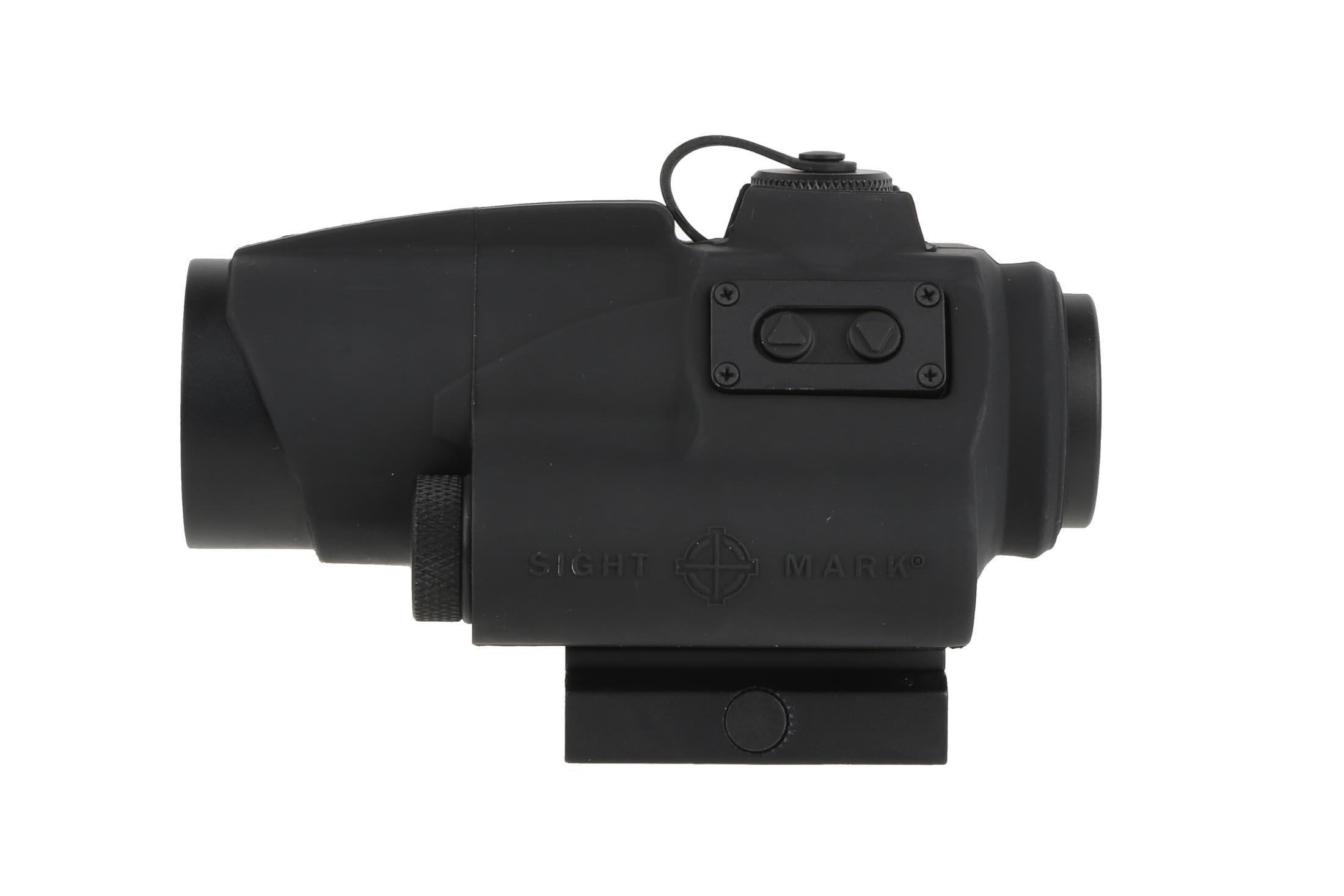 This AR15 red dot sight is made by Sightmark and is waterproof and shockproof