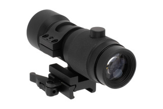 NcSTAR 3x Magnifier with FTS QR Mount features elevation and windage adjustments with turret caps