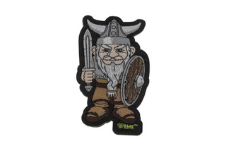 Shooting Made Easy VIKING GNOME full color morale patch with hook and loop backing