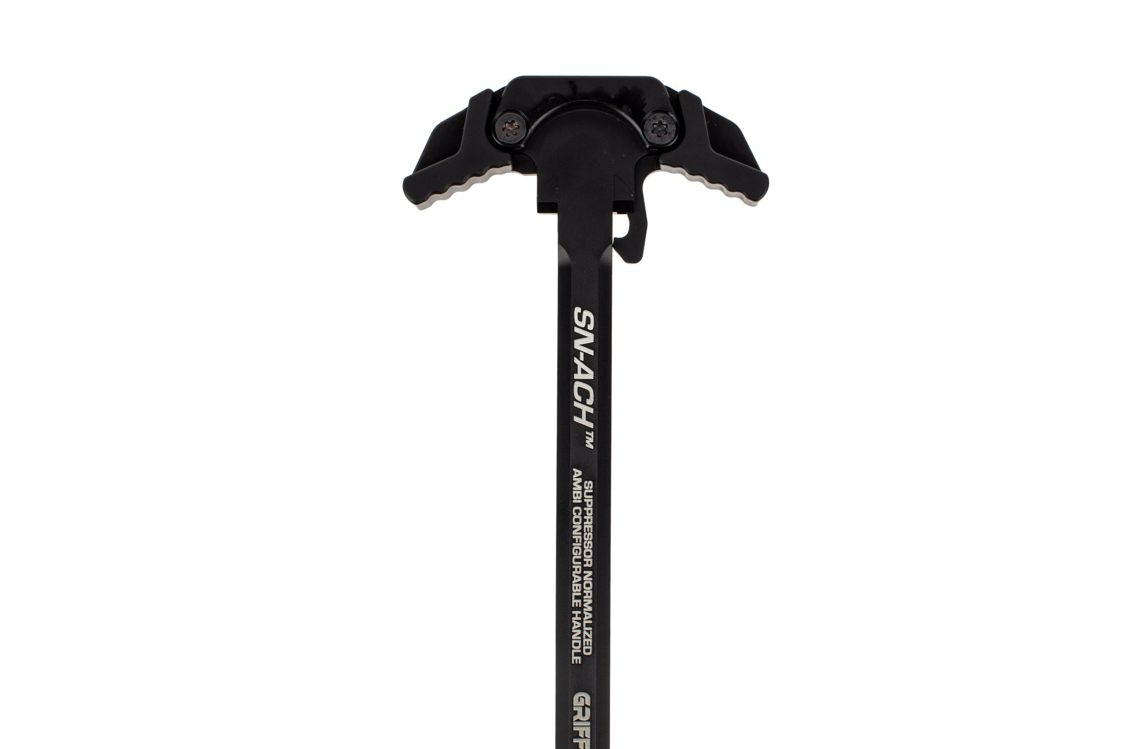 Griffin Armament SN-ACH Ambi charging handle is designed for use with suppressors
