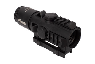 SIG Sauer's BRAVO3 3x24 battle sight with 5.56 horseshoe dot reticle features sturdy magnesium housing