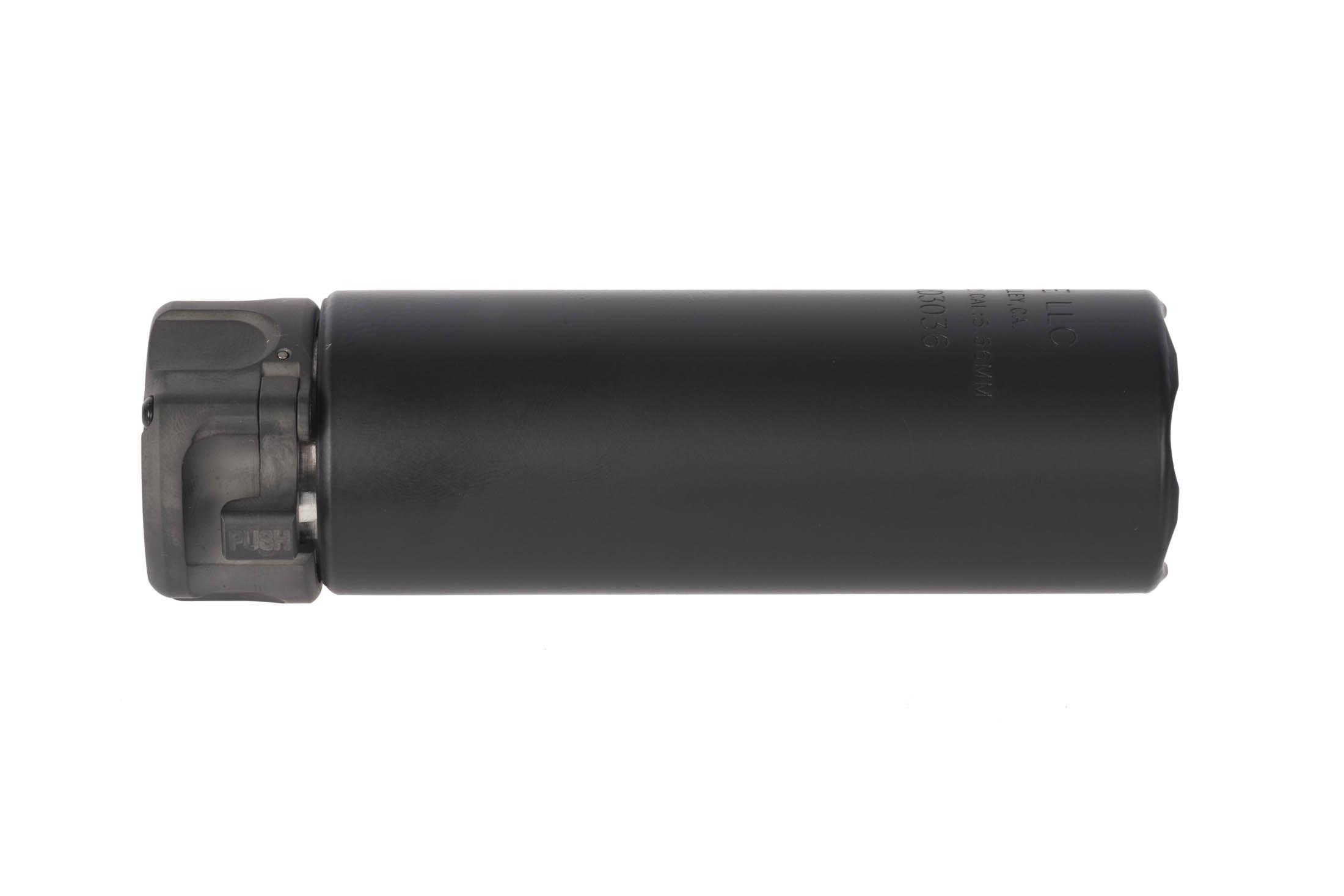 SureFire SOCOM 2 Mini 5.56 Sound Suppressor with black Cerakote finish is just 5.0in in length and weighs less than 15 oz