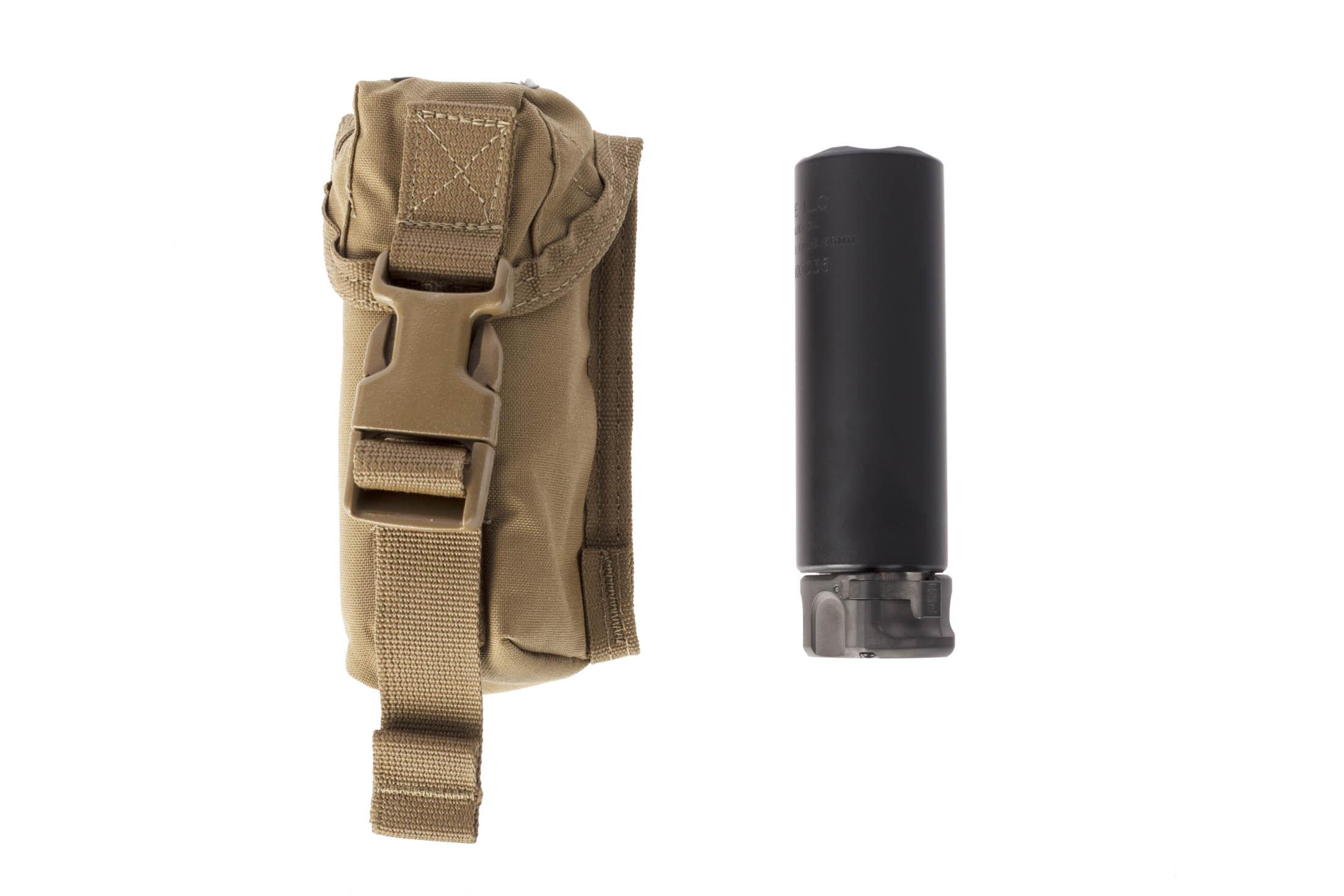 SureFire FastAttach 5.56 NATO SOCOM Mini 2 silencer includes a convenient carry case.