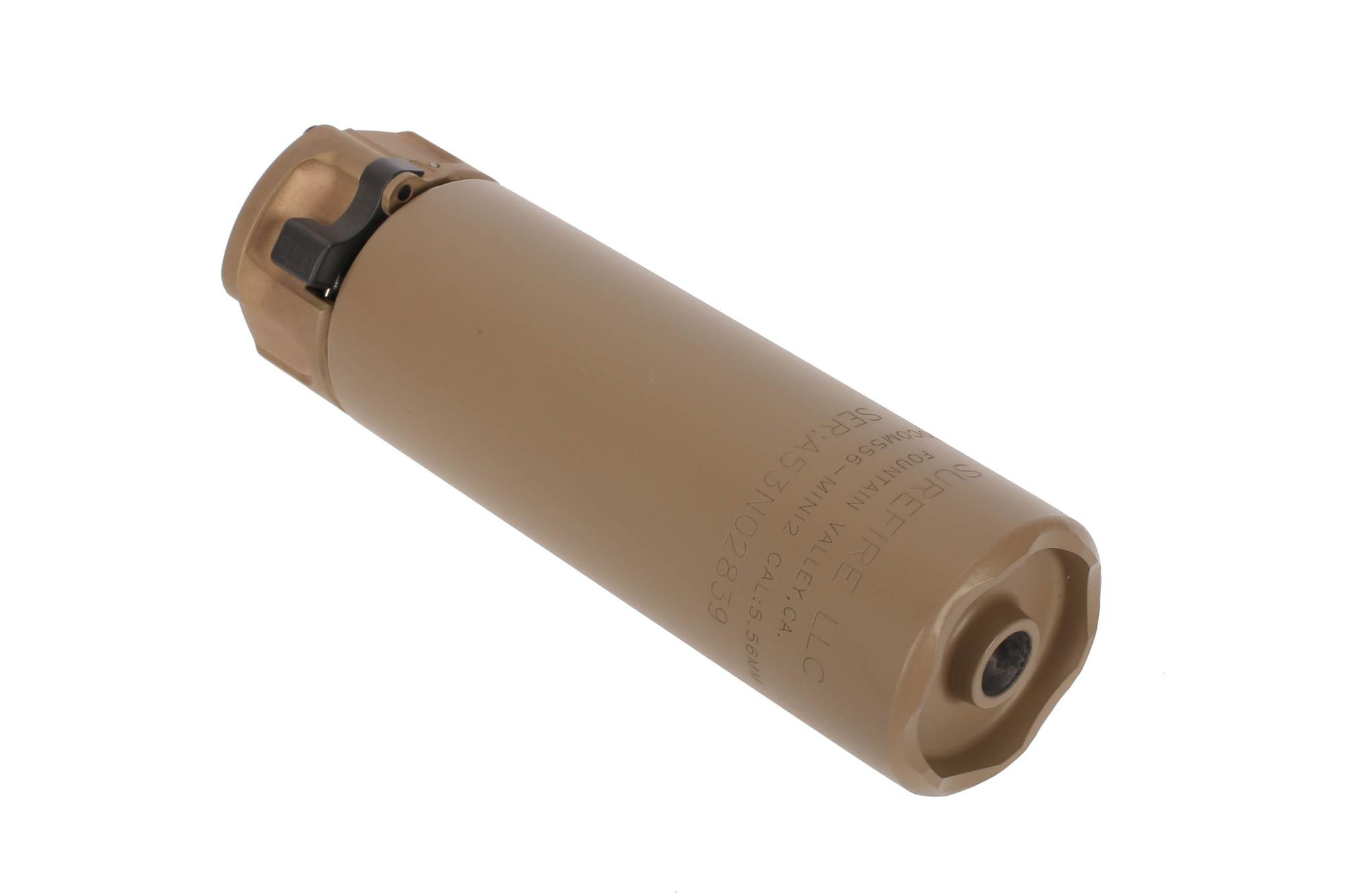 SureFire SOCOM 5.56 MINI2 Compact Fast Attach Rifle Silencer with FDE finish