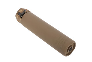 SureFire's FDE SOCOM 7.62 MINI2 Compact Fast Attach Rifle Silencer has a durable Cerakote finish