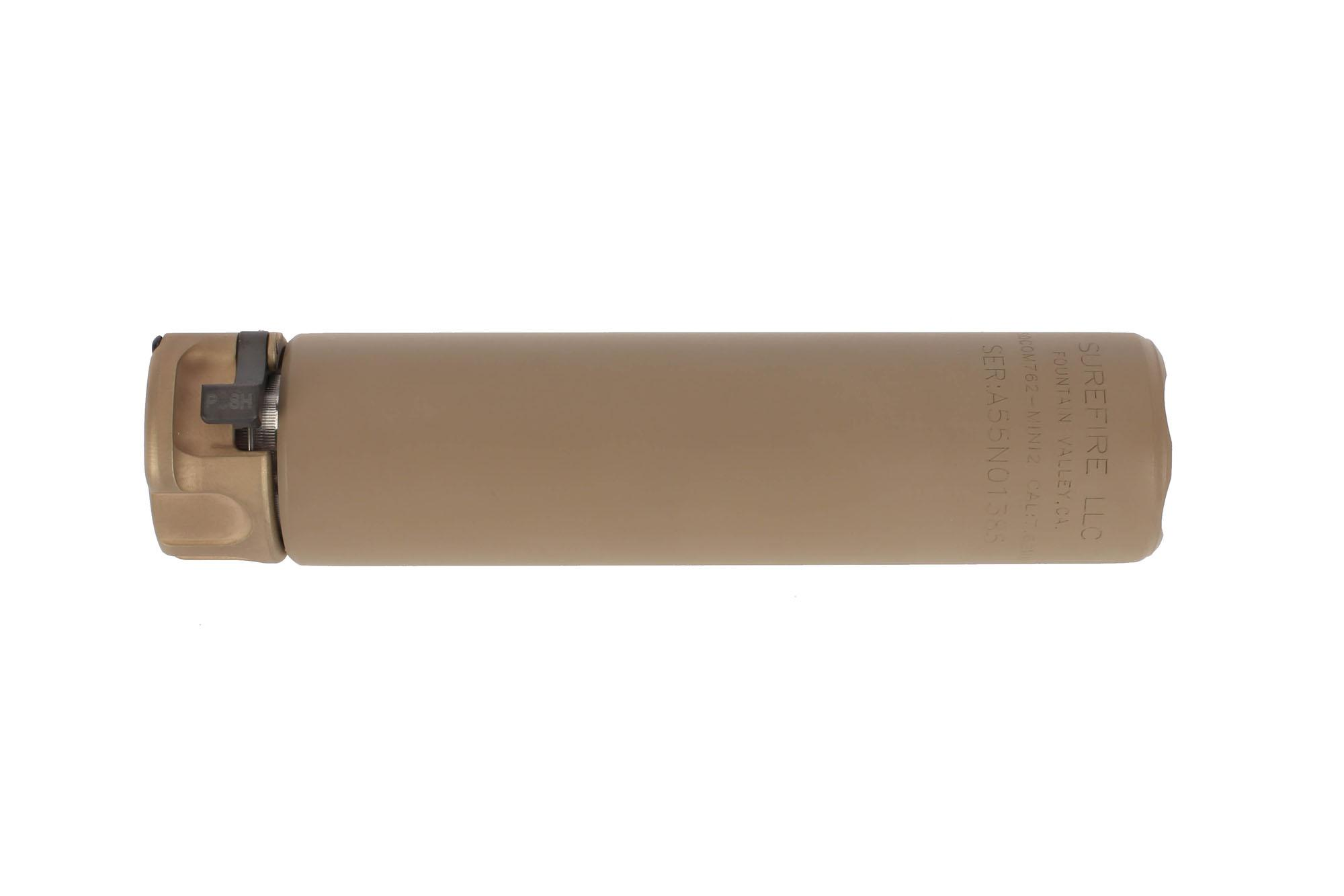SureFire's FDE Fast Attach SOCOM 7.62 MINI2 Compact rifle sound suppressor is just 5 inches long