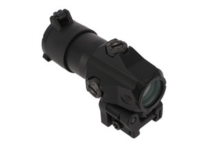 The Sig Sauer Juliet 4 red dot magnifier features a quick release mount