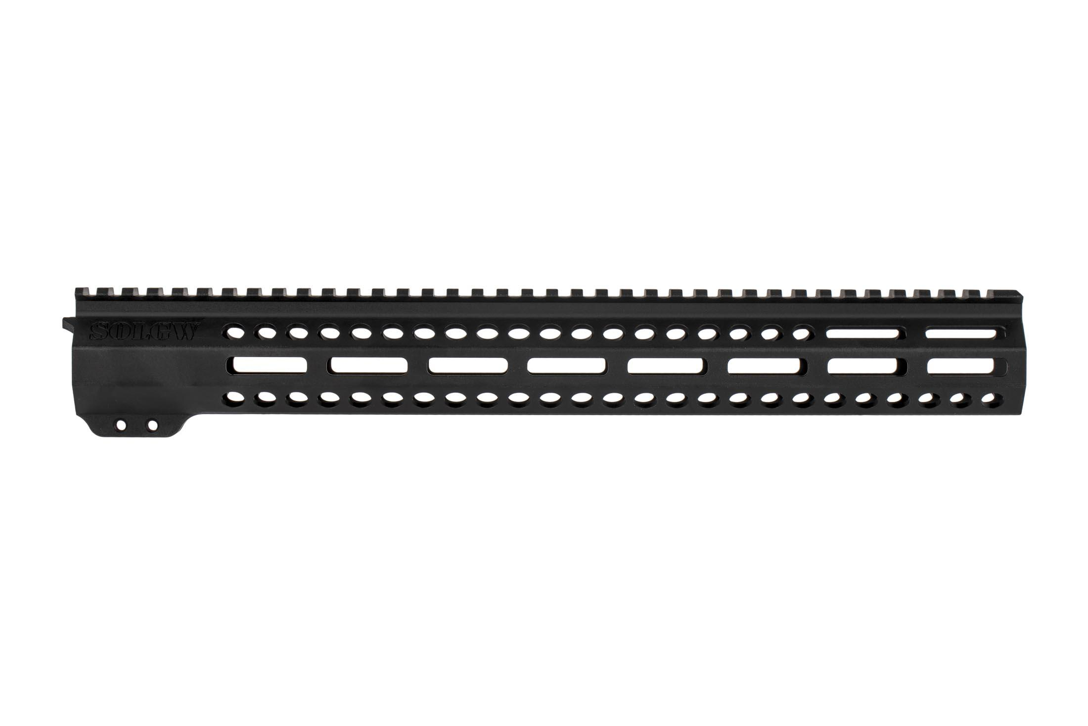 Sons of Liberty Gun Works 15in EXO2 AR-15 freefloat handguard Features M-LOK slots at the 3, 6, and 9 o'clock positions